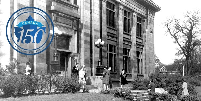 photo of old hamilton public library