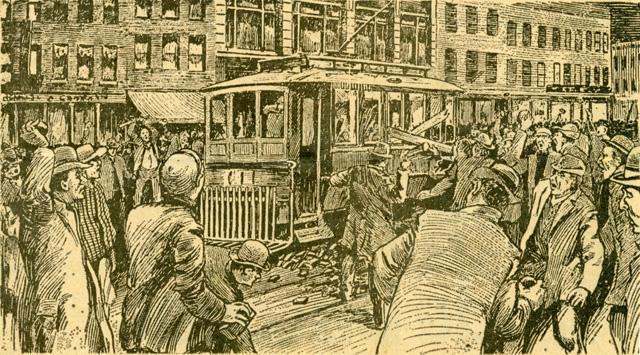 Vandalizing a street car