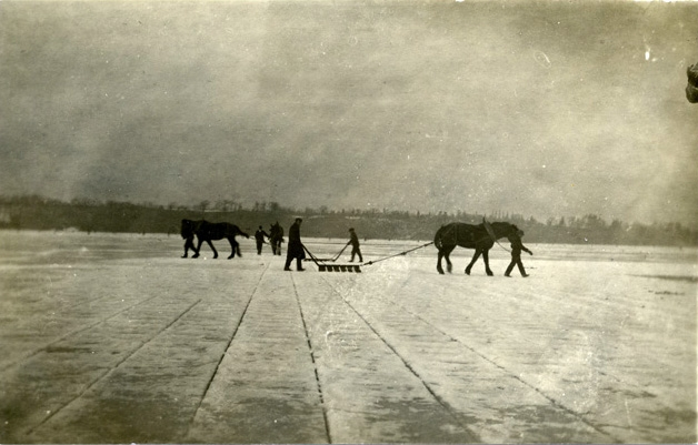 The ice harvest on Hamilton Harbour was considered by some to be the first harvest of the year. During the winter months the ice companies had to lay up enough ice to get the city residents through the sweltering summer months.