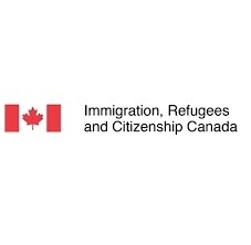 An image of the Canadian flag with the text Immigration, Refugees and Citizenship Canada