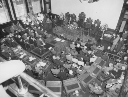Last council meeting in old City Hall, 1960