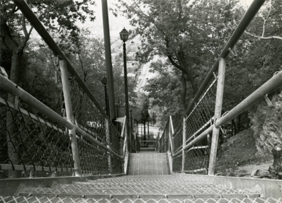 Looking down the escarpment stairs in Hamilton