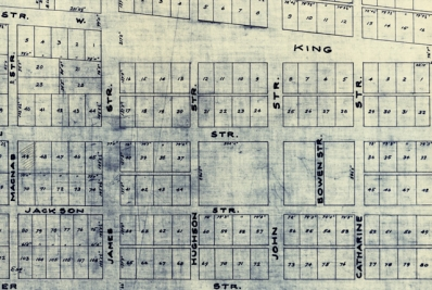 Map of downtown Hamilton
