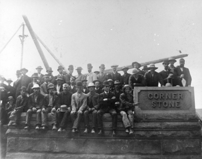 Laying the cornerstone for the City Hall, 1888