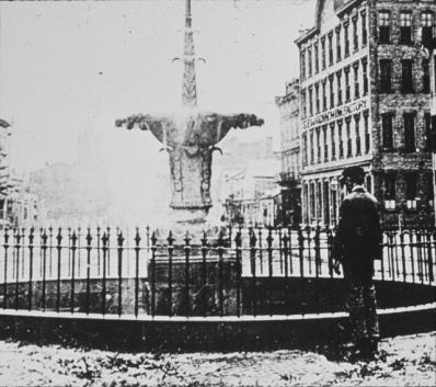 Gore Park fountain, 1870s