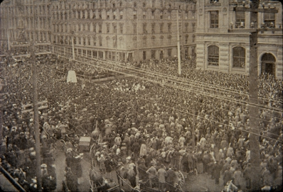 Crowds at the unveiling of the Sir John A. Macdonald statue, 1893