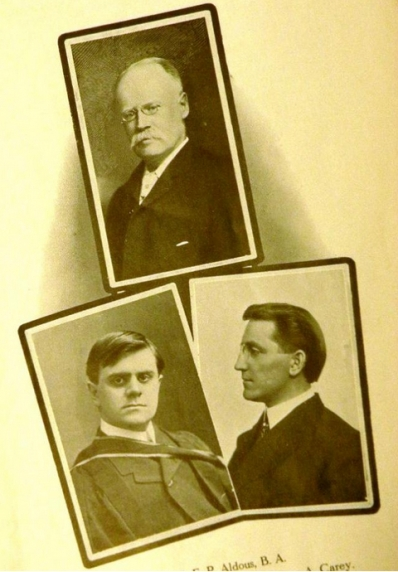 J.P. Aldous, William Hewlett, and Bruce Carey all played important roles in Hamilton's musical history and the Hamilton Conservatory of Music