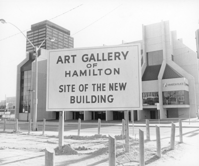 The site of the Art Gallery of Hamilton, in 1974.