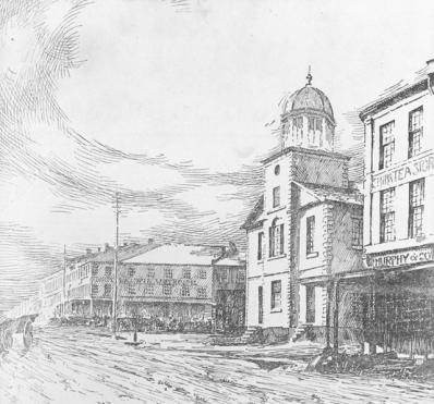 Hamilton in the mid-1800s