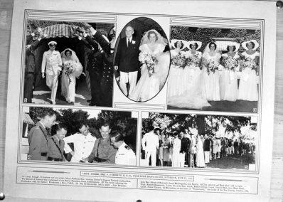 A set of photos depicting the wedding of Lieutenant Comdr. Earnshaw and Mary Southam Ker