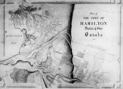 Map of Hamilton, 1842