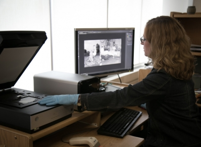 Staff digitizing images