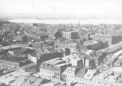 Hamilton from the Niagara Escarpment, 1910's