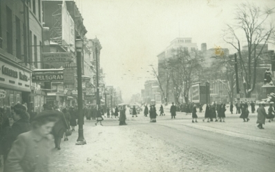 Looking Towards King St. East, 194-?